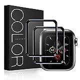 G-Color Protector Pantalla para Apple Watch 44mm Series 6 5 4 SE [2 Piezas] Cristal Templado para iWatch 44mm Serie 6/5/4/SE Hermès, Nike+ Edition