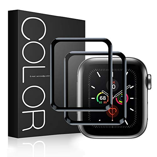 G-Color Protector Pantalla para Apple Watch 40mm Series 6 5 4 SE [2 Piezas] Cristal Templado para iWatch 40mm Serie 6/5/4/SE Hermès, Nike+ Edition