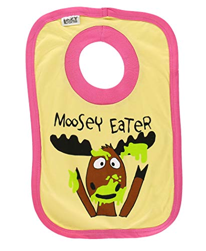 Lazy One Filles Moosey Eater Baby Bavoir - Jaune - Taille