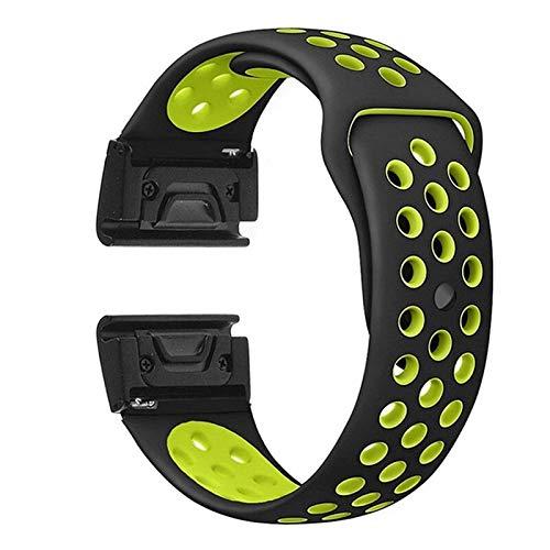 DXFFOK Silicone Watch Band Strap Strap Reemplazo de reemplazo Formin Fenix 6 6X 6S Pro 5X 5X 5S Plus Sport Smart Watch Pulsera Reloj Correa