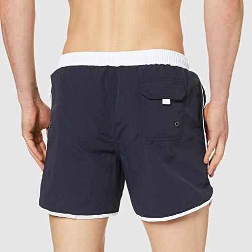 Urban Classics Retro Swimshorts, Pantalones Cortos para Hombre, Azul (Navy/White 01200), X-Large