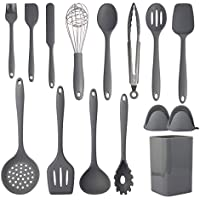 XIQWA 15-Pieces Cooking Utensils Set,Silicone Kitchen Utensil Set