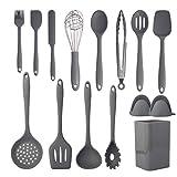 Cooking Utensils Set,Silicone Kitchen Utensil Set 15PCS,Non-Stick Silicone Kitchen Utensils,Heat...