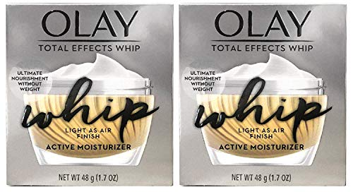 (PACK of 2) 0lay TOTAL EFFECTS WHIP, Active Moisturizer - 1.7 Oz (48 g) EACH - Light as Air Finish
