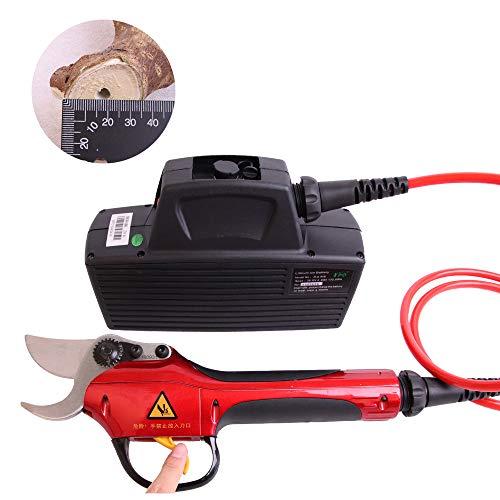 Pixier Elektrische snoeischaar, oplaadbare lithium batterijen, 36 V, 4 Ah, snijdiameter 30 mm, werking 8 uur