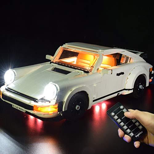 Morton3654Mam Juego de luces LED para Lego Porsche 911 10295, juego de iluminación compatible con modelo Lego 10295, sin juego de Lego, versión de control remoto mejorada.