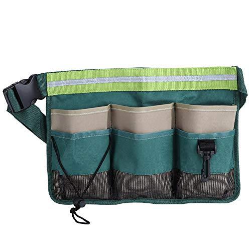 Bolsa de cintura de jardín de tela Oxford 600D, riñonera de jardín, organizador de herramientas de jardín a prueba de agua, organizador de bolsa colgante, multibolsillos para jardín