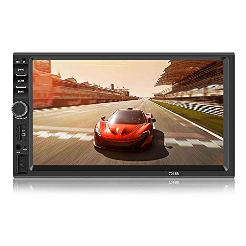 Andven Autoradio Bluetooth, Car Stereo 2 DIN 7 pollici Touch Screen MP5 Player con supporto FM AUX USB TF card + Rear View Fotocamera + telecomando