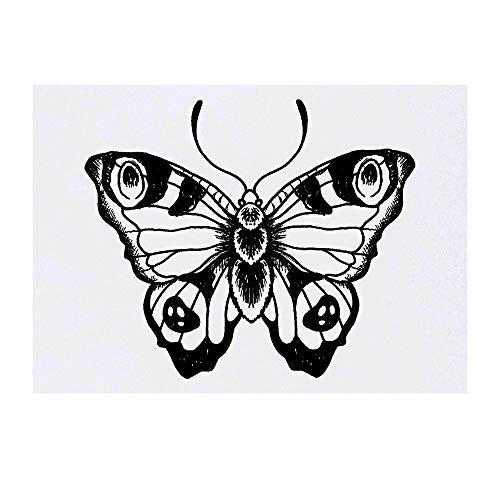 Azeeda Grand 'Paon Papillon' Tatouages temporaires (TO00021055)