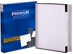 Premium Guard Cabin Filters prevents harmful spores and pollen from entering the vehicle cabin while keeping passengers protected. We have maximized the filtration area in our cabin filters without affecting the free-flow of air into the passengers' ...