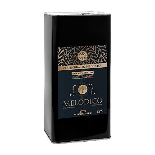 OFFERTA: Olio extravergine di oliva italiano 5 litri MELODICO 100% monocultivar Coratina di Puglia, Olio evo nutraceutico e sano. Per una dieta ricca in polifenoli. E  buono perche lo facciamo noi!