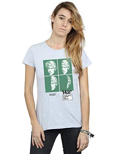 Preisvergleich Produktbild David Bowie Damen 1983 Concert Poster T-Shirt Sport Grau XX-Large