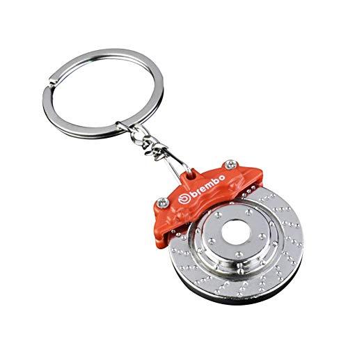 U/K Herren Auto Scheibenbremse Pumpe Schlüsselbund Anhänger Schlüsselanhänger Charm Tasche Brieftasche Legierung Schlüssel Schnalle hängen Zubehör Ornamente Geschenk - Orange stilvoll und beliebt