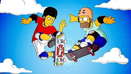 XHXYTSM Rompecabezas para adultos y niños 1000 piezas Los Simpson-Skater Tangram de lógica de madera Super duro clásico Ocio y entretenimiento Juegos familiares Regalo creatividad