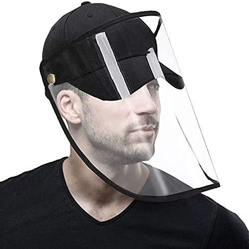 Outdoor gelaatsschermen Recreatiehoeden Caps voor heren Veiligheid Beschermende gezichtshoed Hoofdband Hoed-waterdicht-Zon Bosbouw Zonnehoed Vizieren Zon Zwart