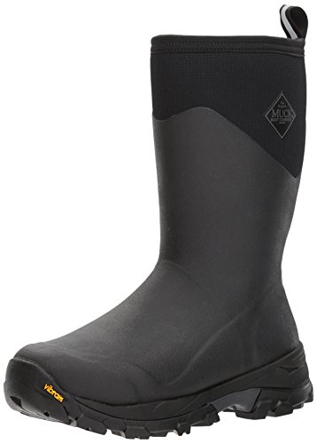 Muck Boot Mens Arctic Ice Extreme Conditions Mid-Height Rubber Winter Boots, Black/Gray, 12 M US