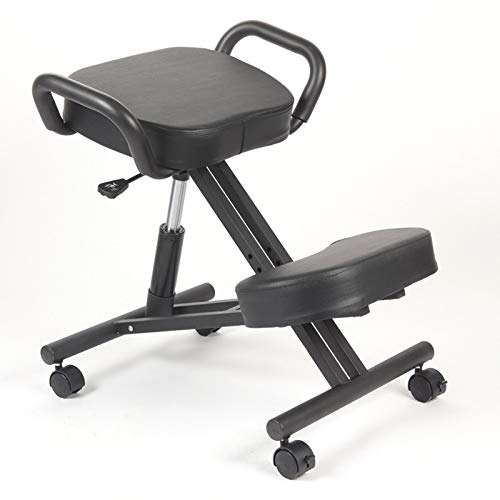 LJYTZSH Riding Learning Chair Hump-Proof Kneeling seat Saddle Chair Ergonomic Lifting Children's Positive Posture Chair-Black