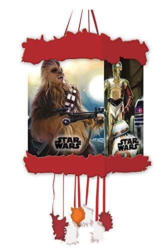 ALMACENESADAN 2352; piñata viñeta Disney Star Wars; Ideal para Fiestas y cumpleaños; Producto de cartón; Dimensiones 20x30 cm