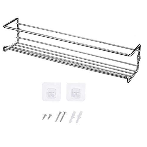 WUCHENG Montaje en pared Organizador de estante de especias, 1/2 / paquete bastidores de colgantes de metal de metal en rack organizador de condimentos de soltero para puerta, armario, despensa especi