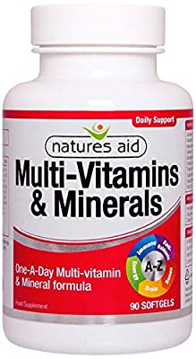 Natures Aid Multi-Vitamins and Minerals, 90 Capsules