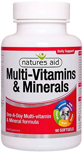 Natures Aid Multi-Vitamins and Minerals, 90 Capsules