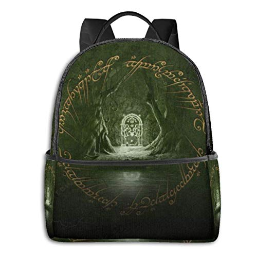 zhengdong Lord Rings Bapa Laptop Travel Bag Durable Waterproof for School College Student Knapsa