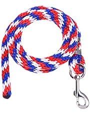 Balacoo 1PC Tri Color Multicolors Durable Trenzado Robusto Resistente Caballo Cuerda de Plomo Cuerda de Plomo Ecuestre con Cierre Resistente