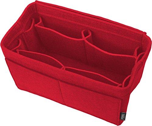 Pelikus Gefühlter Geldbeutel und Totalisator-Handtasche des Organisators Insert/Multi-Pocket Shaper Rot-M Medium