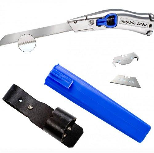Delphin® 2000 ISO-Set - 6-teilig Dämmstoffmesser 100346 + Köcher blau