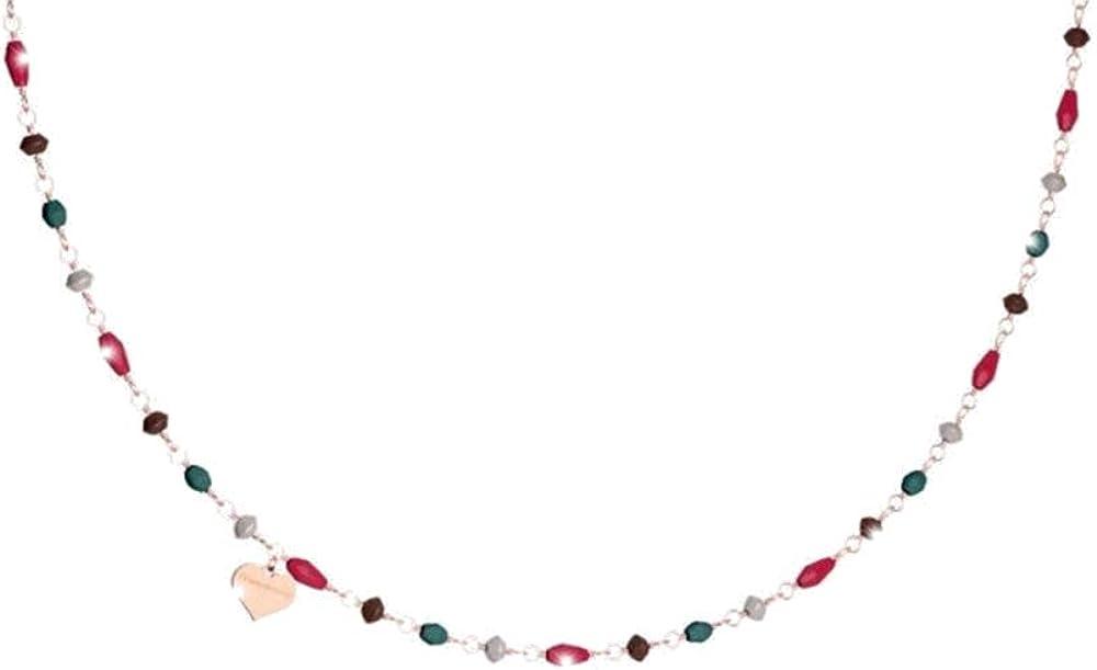 Rebecca collana per donna in argento con pietre colorate pepite SPEKRR01