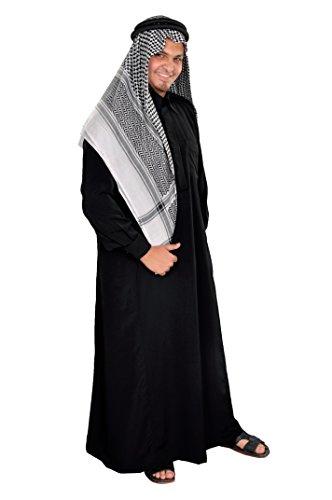 Egypt Bazar Dreiteiliges Araber Scheich Kostüm Scheichkostüm, Karnevalskostüm - Faschingskostüm, schwarz (S)