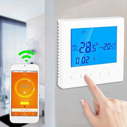 Thermostaat, programmeerbare WiFi draadloze verwarming Thermostaat Digitaal LCD-scherm App-bediening 110V
