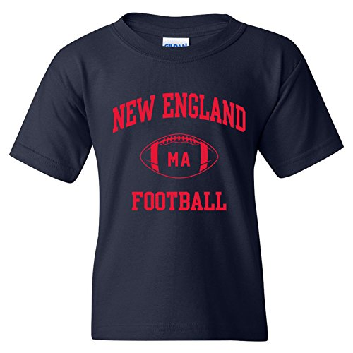 New England Classic Football Arch American Football Team Sports Youth T Shirt - X-Large - Navy