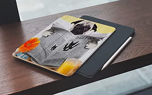 MEMETARO Custodia per iPad 9.7 2018 6a Generazione 2017 iPad 5a GenerazionePug Puppy Reading The Newspaper Toilet Pug Joke Print,– Smart Cover Stand Ultral Leggero Slim