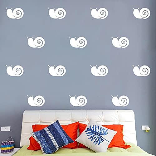 21x30 cm decoración de la pared de dibujos animados caracol pegatinas de pared papel tapiz de vinilo impermeable decoración de la habitación de los niños dormitorio de los niños pegatinas murales de
