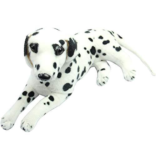 ZOZOSEP Reizende Spielzeug-Plüschtiere Weiß und Schwarz Dalmatiner Simulation Hund Plüsch Tier Geschenk