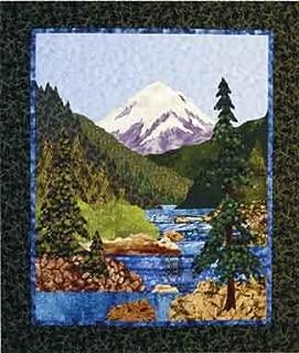 Mountain Stream by Helene Knott - Applique Art Quilt Pattern - 38