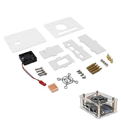 weichuang Accesorios electrónicos caja Arcylic + ventilador de refrigeración + disipador de calor Kit para Orange Pi One accesorios electrónicos Accesorios electrónicos