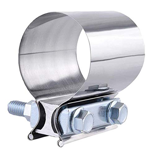"""2.0"""" Lap Joint Band Clamp Exhaust Clamps Pipe Parts Stainless"""