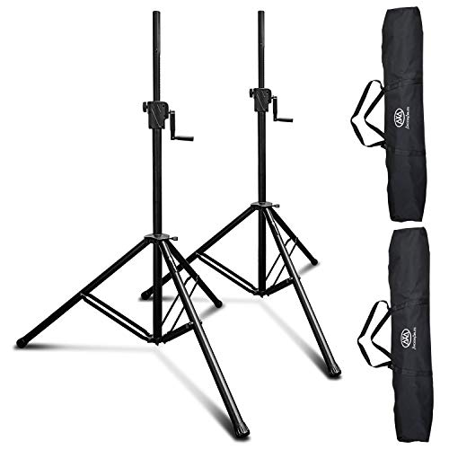 AxcessAbles SMX-266 Tripod Crank-up Speaker Stand (2-Pack)