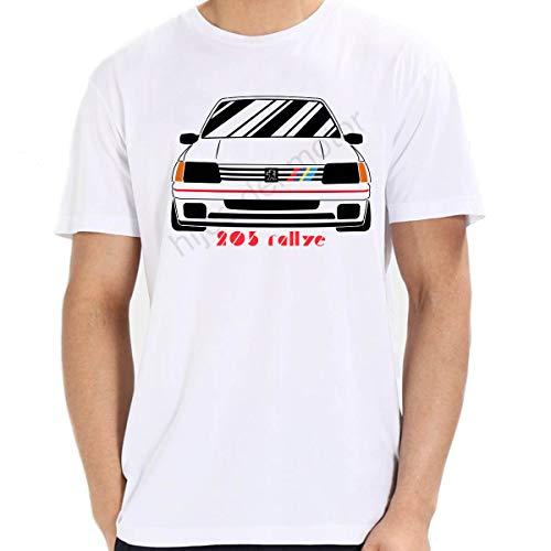 Camiseta Peugeot 205 Rallye (Blanco, M)