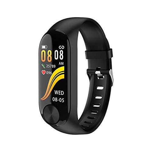 GANG Ad39 Smart Watch Ip67 Actividad Impermeable Fitness Tracker Pulsera Monitor de Ritmo Cardíaco Hombres Mujeres Smart Watch, Fácil de Usar Moda/Negro