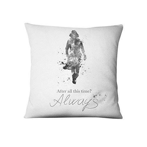 YZH XBZ Anime Snape Watercolor Illustration Printed Pillowcase Thin Linen Cushion Decorative Pillow Home Decor Sofa Throw Pillow (Color : 6, Specification : 45x45cm)