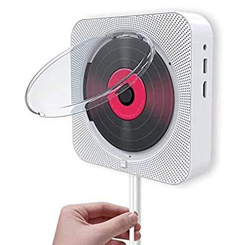 Huachaoxiang Reproductor De DVD Portátil, para Montaje En Pared Bluetooth Reproducción De Audio con Control Remoto. Tapa Protectora De MP3 USB De Control Remoto Y Salida HDMI