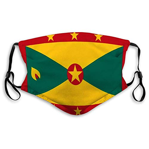 Adjustable Warm Face Scraf Flag of Grenada in National Colors