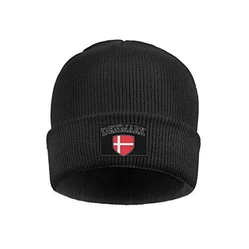 Beanie Hats for Men's Women Danish-Flag-Amdesco-Denmark-Shield-Pride- Acrylic Woolen Cap