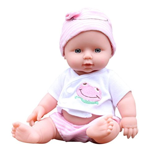 Anytec 12 inch DIY Newborn Baby Dolls Soft Realistic Full Body Reborn Blink Doll for Toddler Boys Girls Birthday Gifts or Clinical Education (Baby Pink)