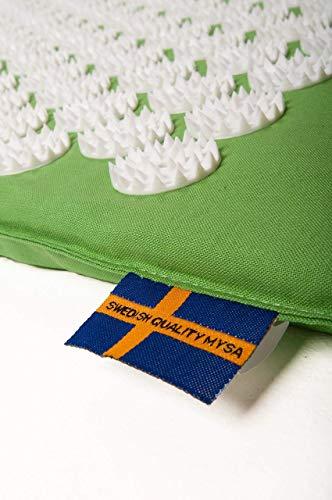 Tapis pour acupression Mysa: L'authentique suédois en fibres naturelle Eco - N.1 au Monde | fleurs à 33 pointes | avec Audio et Tutorial