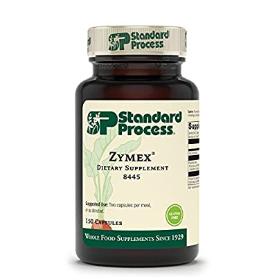 Standard Process Zymex Capsules - Whole Food Digestion and Digestive Health with Rice Bran, Spanish Moss, and Beet Root - 150 Capsules
