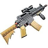 Pistola ad Acqua M416, Pistola a Proiettile Morbida con Due proiettili, Giochi CS Games Outdoor Bambini Arma Giocattolo Pistole per i Migliori Regali